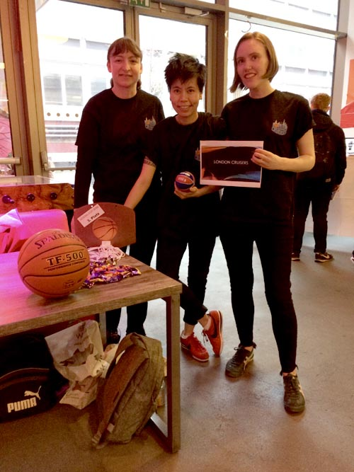 Members of London Cruisers, an LGBTQI basketball club