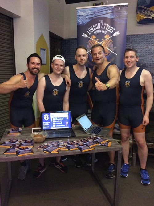Members of the London Otters, an LGBTQI+ inclusive rowing club