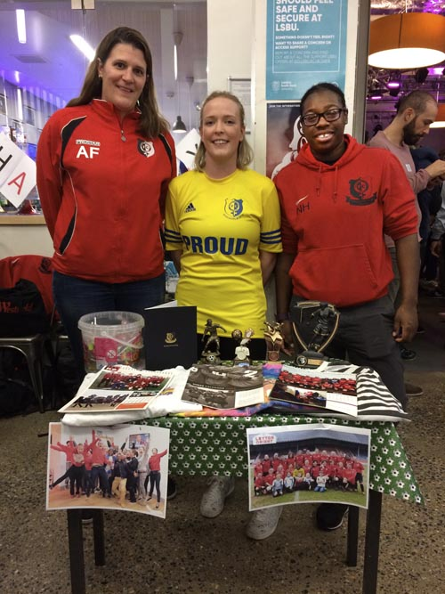 Members of Hackney Women's Football at the 2018 Out For Sport Fair