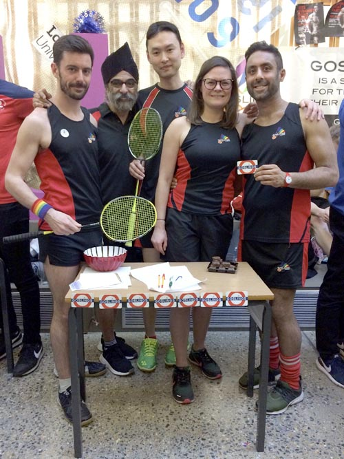Members of London Goslings, an LGBT badminton club