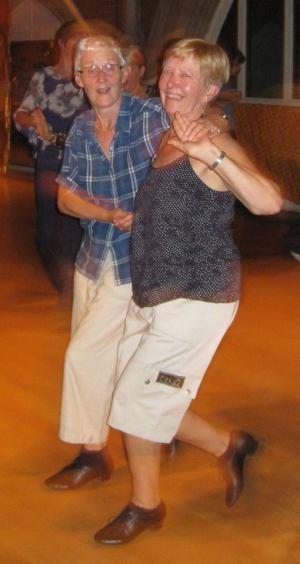 Tina and Chris, older lesbian ballroom dancers