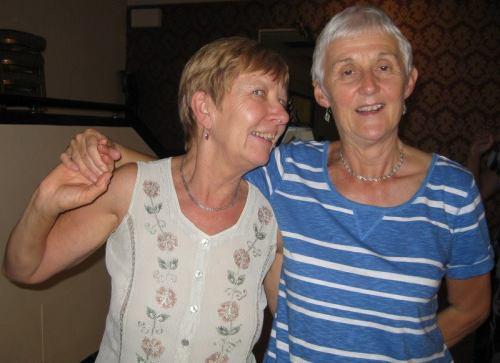 Chris and Tina, older lesbian ballroom dancers