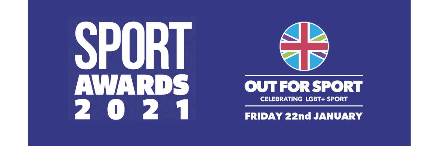 Out For Sport 2021 Awards banner - date Friday 22nd January